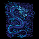 T - Shirt Blue Dragon